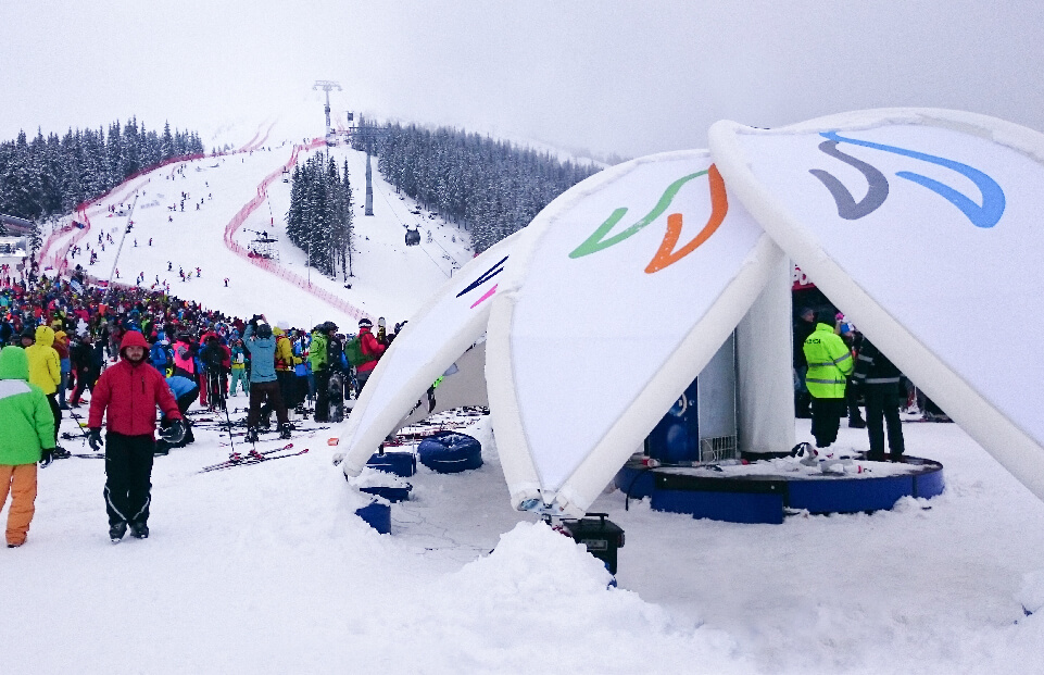 The flower can be built during the snow forecast AXION4EVENT