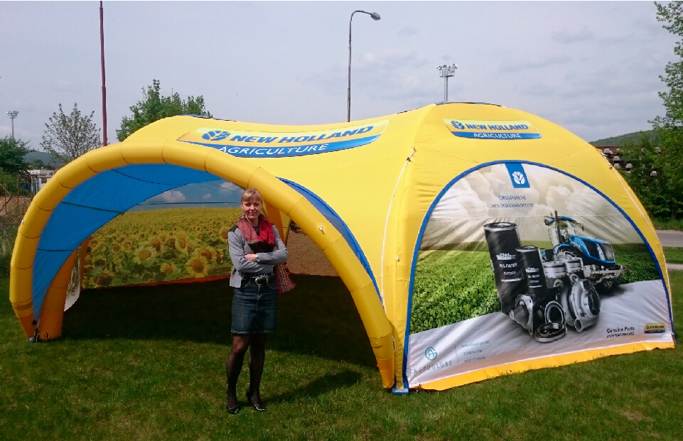 Hexa NEW HOLLAND event tent AXION4EVENT