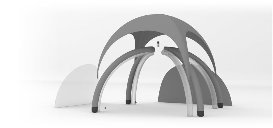 All parts of the tent is the ability to disassemble and repair